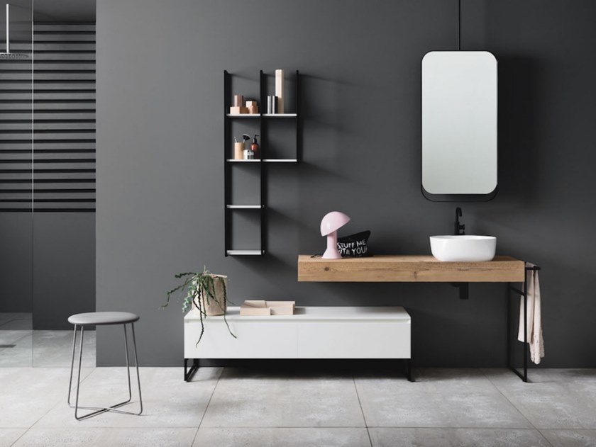 Wall-mounted vanity unit with drawers CODE 17 by Arbi Arredobagno