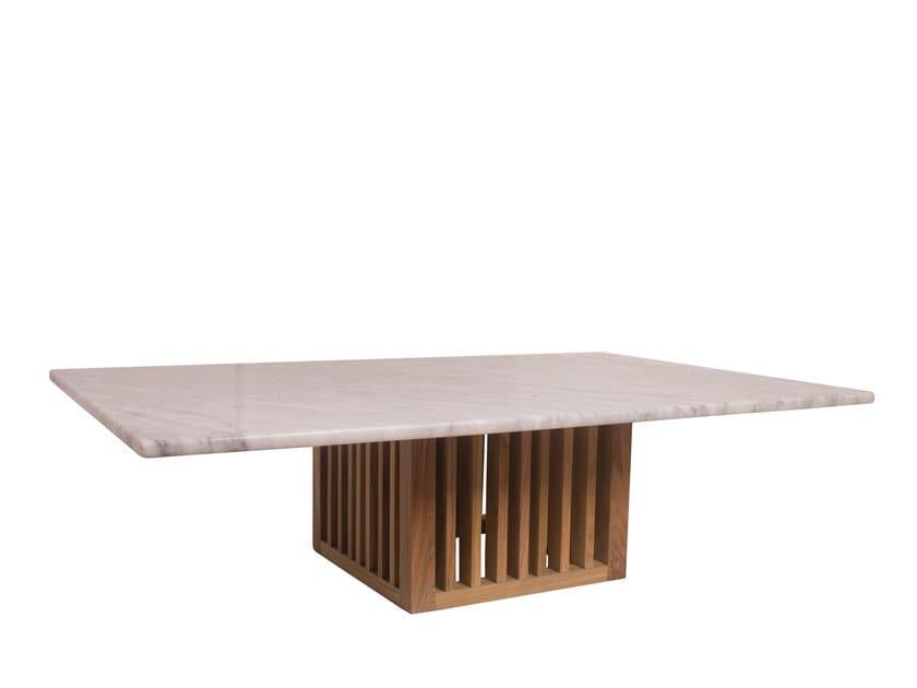 Rectangular garden side table CODE | Rectangular coffee table by Il Giardino di Legno