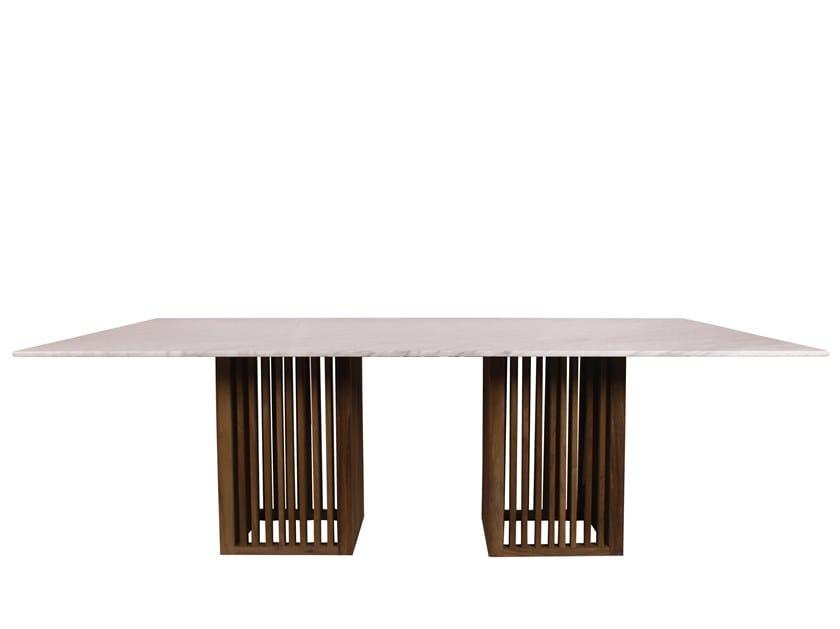 Rectangular garden table CODE | Rectangular table by Il Giardino di Legno