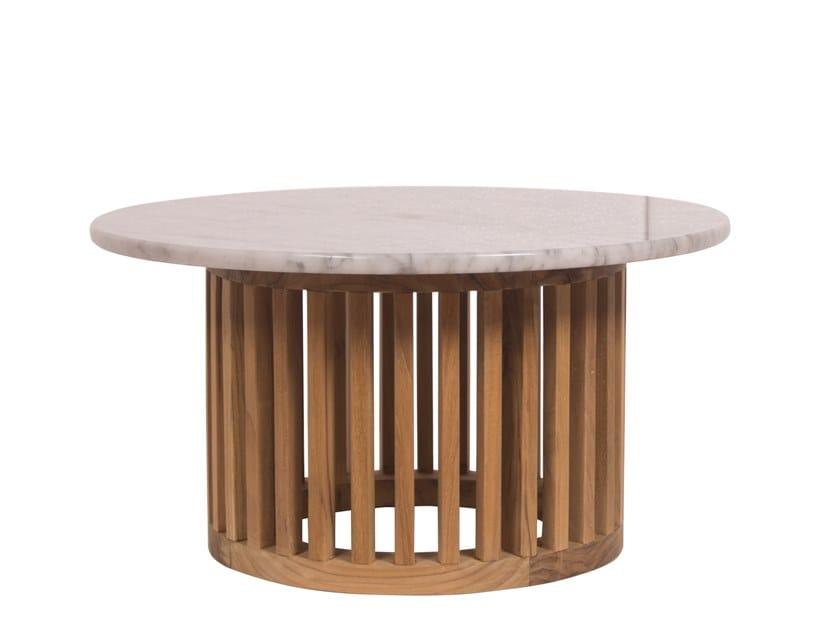 Round garden side table CODE | Round coffee table by Il Giardino di Legno