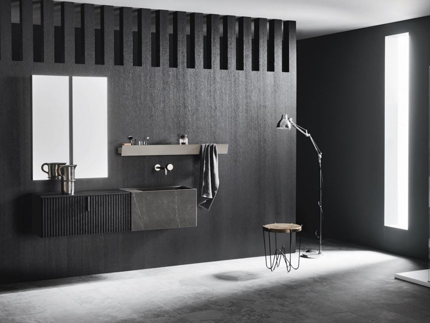 Wall-mounted vanity unit with drawers CODE WAVE 07 by Arbi Arredobagno