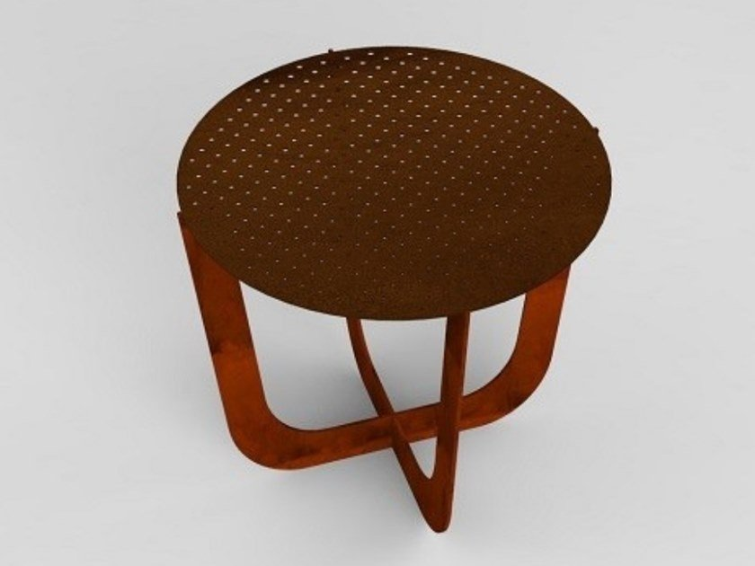 Round Corten™ coffee table COFFEE | Corten™ coffee table by TrackDesign