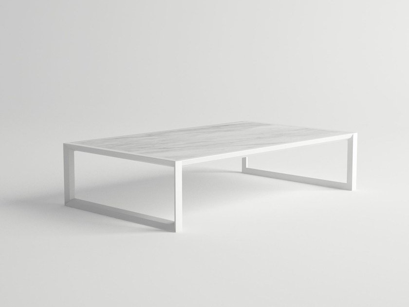 Low rectangular garden side table NUBES | Coffee table by 10Deka
