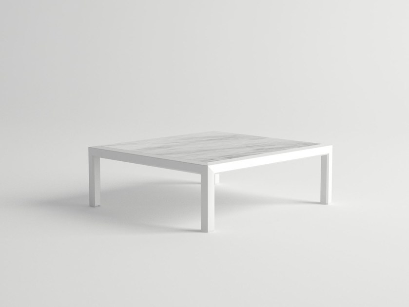 Low rectangular aluminium coffee table VICTUS | Coffee table by 10Deka