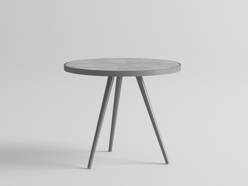 Round garden side table LITUS | Coffee table by 10Deka