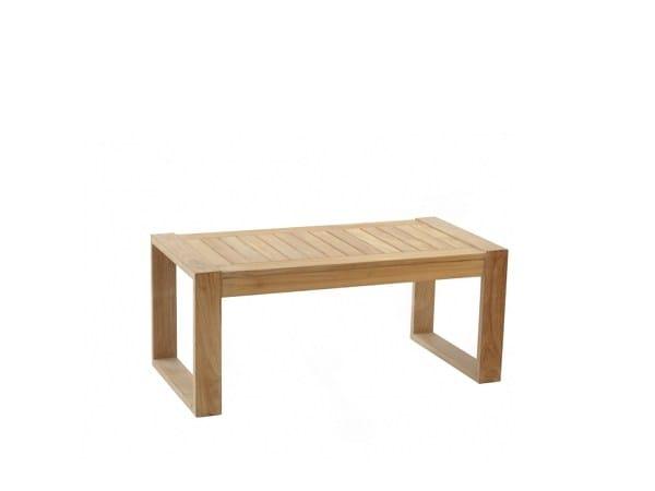 Rectangular teak garden side table BAKGARDEN | Coffee table by 7OCEANS DESIGNS