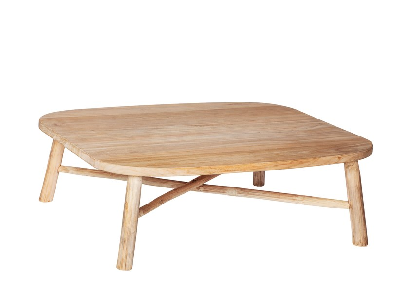 Square teak garden side table COTTAGE | Coffee table by 7OCEANS DESIGNS