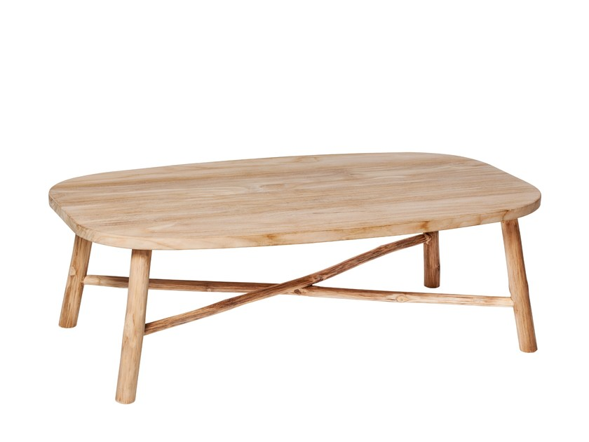 Rectangular teak garden side table COTTAGE   Coffee table by 7OCEANS DESIGNS