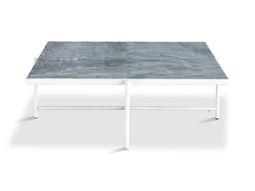 Low square powder coated steel coffee table 90 | Coffee table by Handvärk