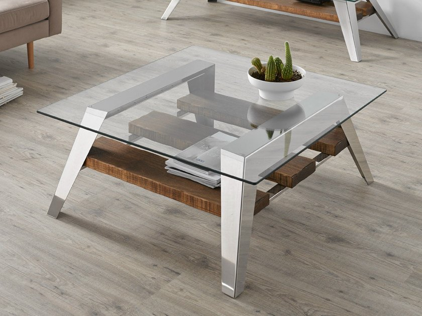Contemporary Style Low Glass Coffee Table For Living Room NORDIC | Coffee  Table By Altinox Part 33
