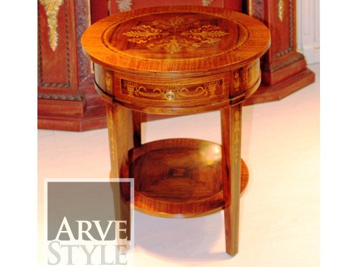 Low round solid wood coffee table MARY   Coffee table by Arvestyle