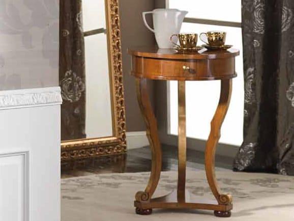 Tavolino rotondo in legno massello ILARIA | Tavolino by Arvestyle