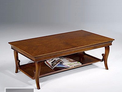 Low solid wood coffee table with storage space ELEONORA | Coffee table by Arvestyle