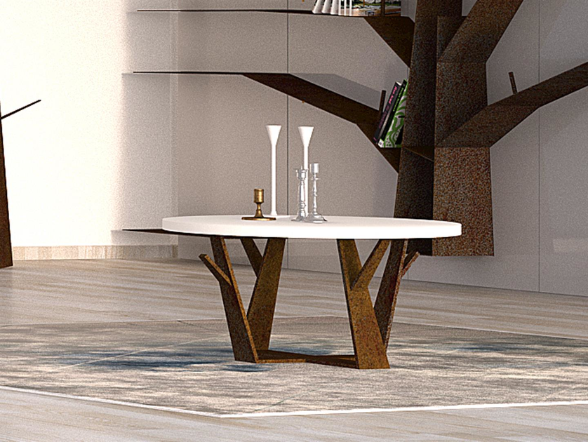 Round Solid Surface coffee table OGGETTI DELLA FORESTA | Coffee table by Boffetto