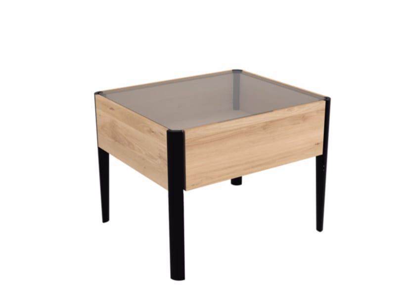 Tavolino rettangolare in legno e vetro OAK WINDOW | Tavolino by Ethnicraft