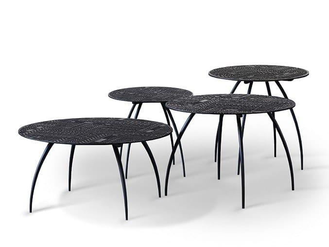 Round teak coffee table ANCESTORS TABWA | Coffee table by Ethnicraft