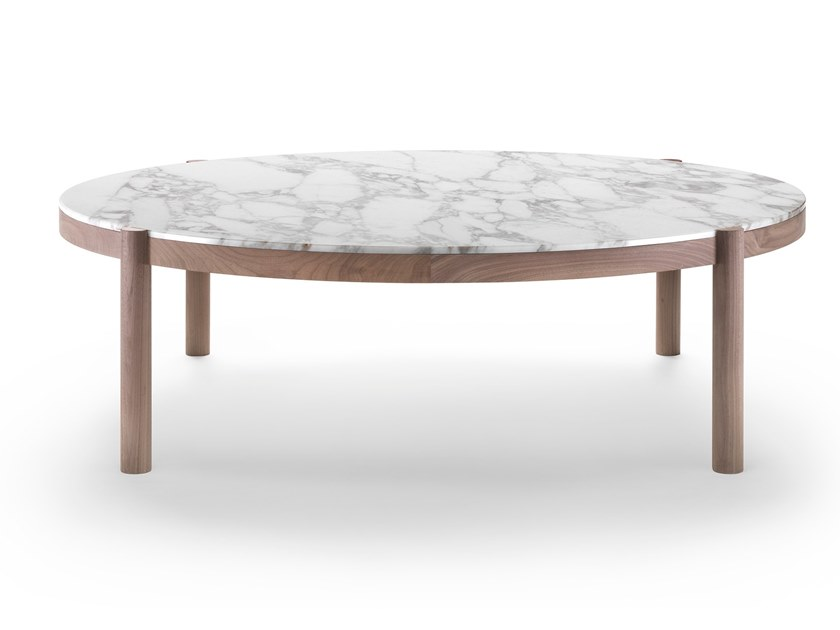 Round marble coffee table GUSTAV | Coffee table by FLEXFORM