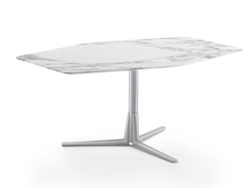 Marble side table with 3-star base SVEVA | Coffee table by FLEXFORM
