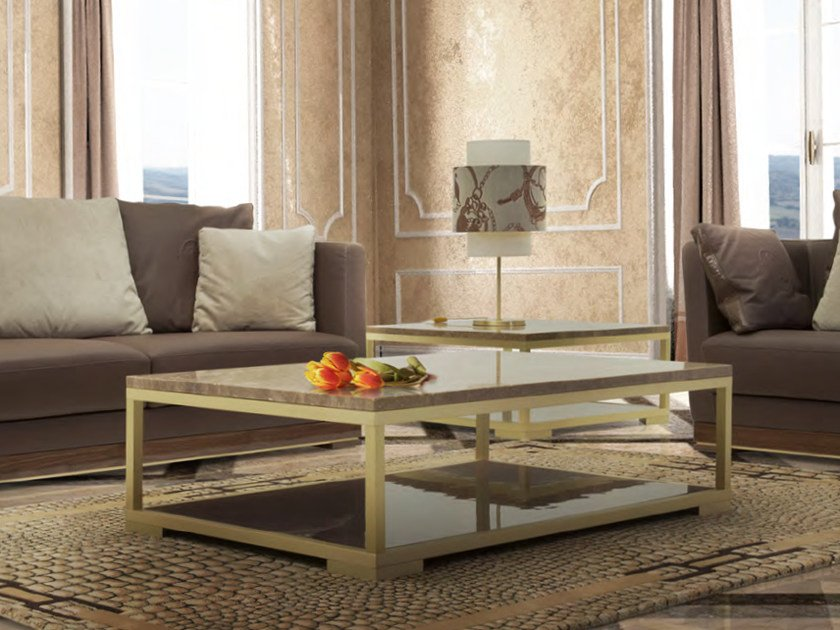 Low travertine coffee table for living room PITTI | Coffee table by Formitalia