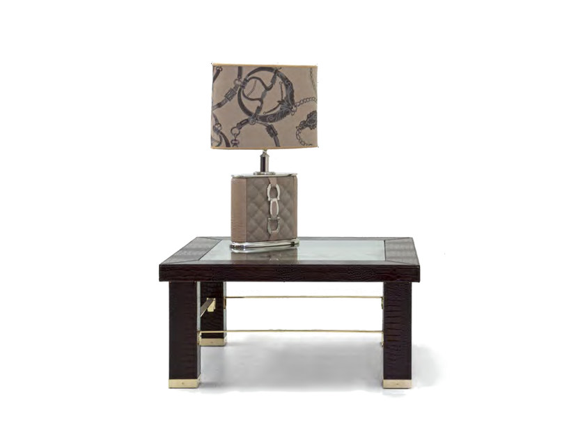 Low square leather coffee table for living room ASCOT ONE 911 | Square coffee table by Formitalia