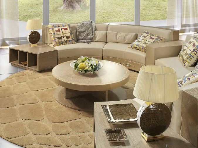 Low round wooden coffee table for living room READING A'ROUND | Coffee table by Formitalia