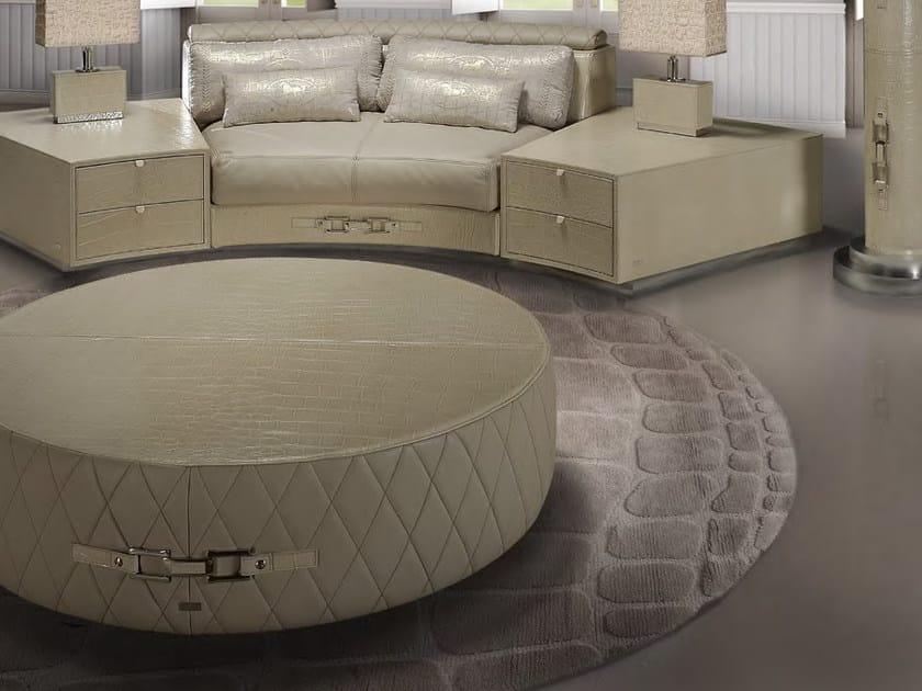 Tavolino basso rotondo in pelle da salotto SITTING MY09 | Tavolino by Formitalia
