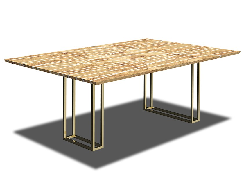 Rectangular wooden table Wooden table by HEBANON