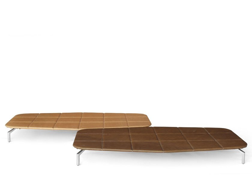 Low leather coffee table CARLTON   Coffee table by Giovannetti