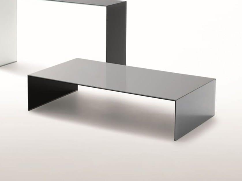 Tavolino Basso Cristallo.Sio2 Bridge Tavolino