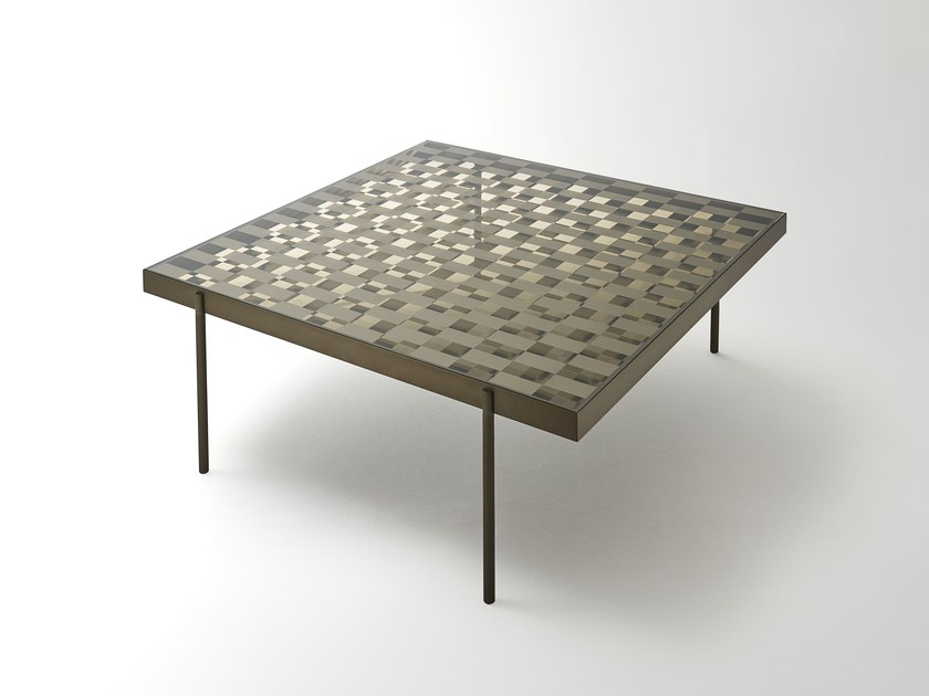 Low square crystal coffee table FRAGMENT | Coffee table by Glas Italia