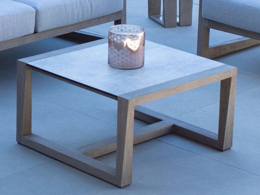 Square HPL garden side table SKAAL | Coffee table by Les jardins
