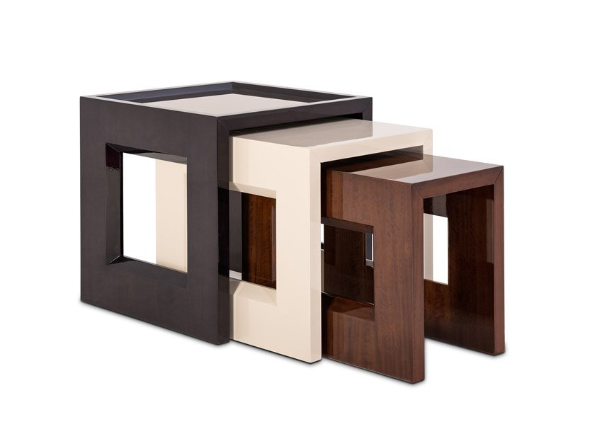 Lacquered square wooden coffee table HERITAGE | Coffee table by Stylish Club