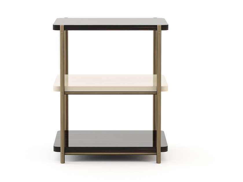 Square bronze and wooden coffee table HER | Coffee table by Stylish Club