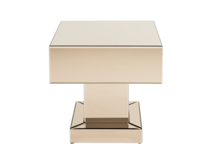 Square glass coffee table JUSTUS | Coffee table by Stylish Club