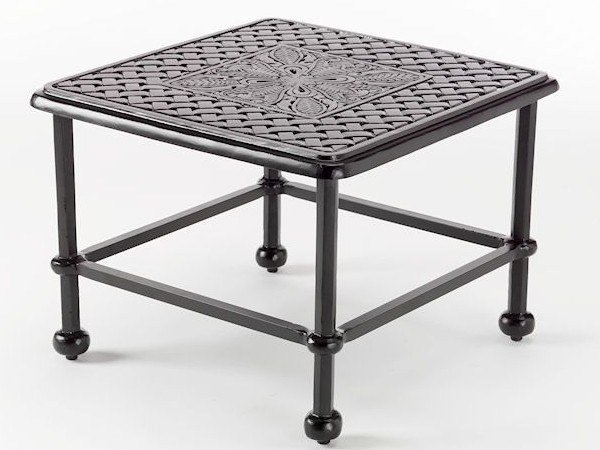 Square aluminium garden side table ARTEMIS | Coffee table by Oxley's Furniture
