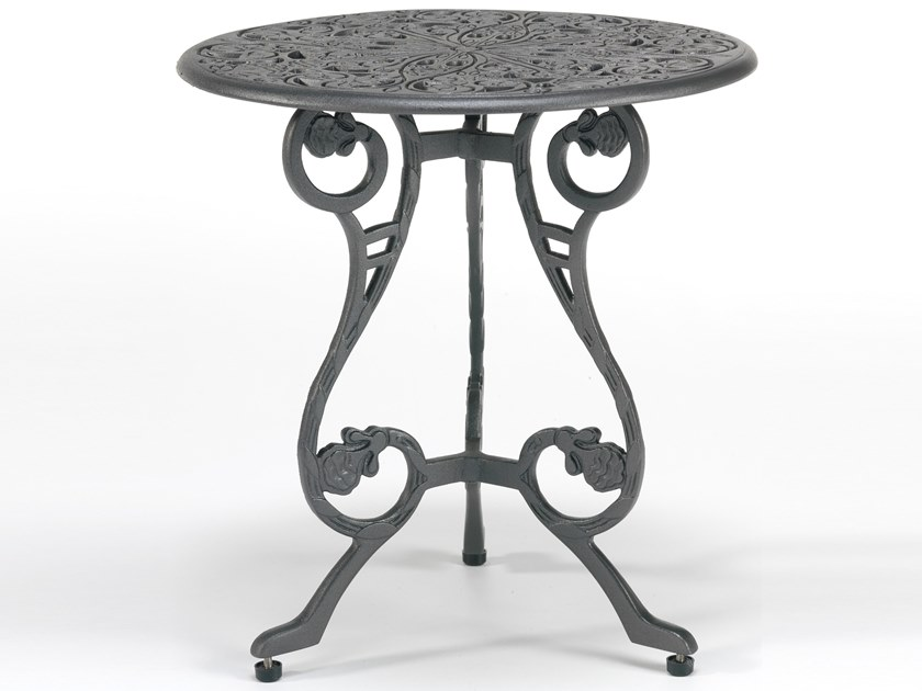 Round aluminium garden side table BARRINGTON | Coffee table by Oxley's Furniture