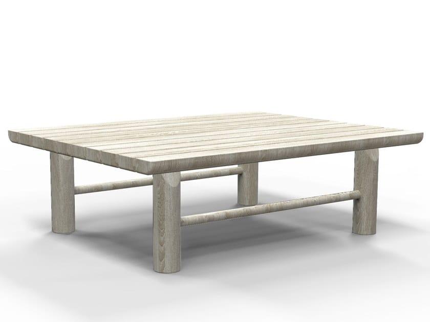 Rectangular teak garden side table HIDDE   Coffee table by Piet Boon