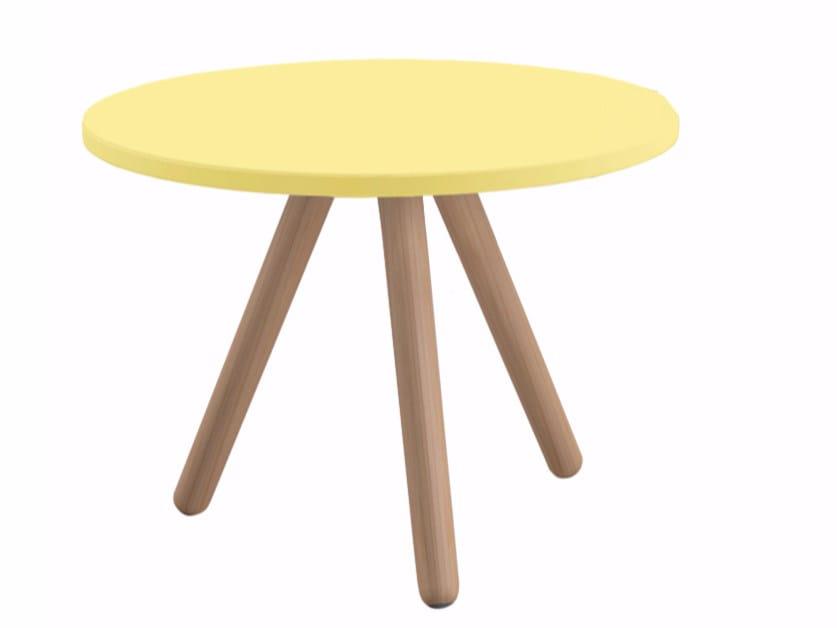 Tavolino laccato rotondo in MDF WOODY | Tavolino by REXITE