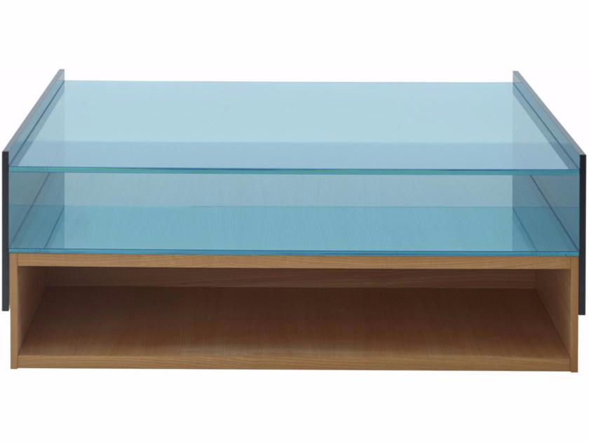 Wood and glass coffee table HAMPTON | Coffee table by Ligne Roset