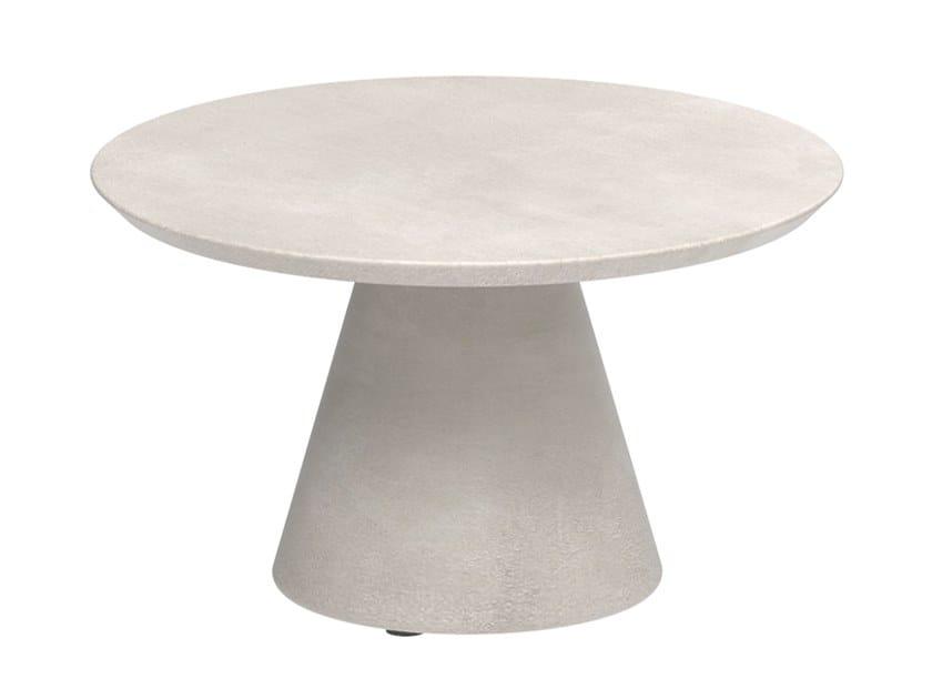 Tavolino da giardino rotondo in Ductal® CONIX | Tavolino by Royal Botania