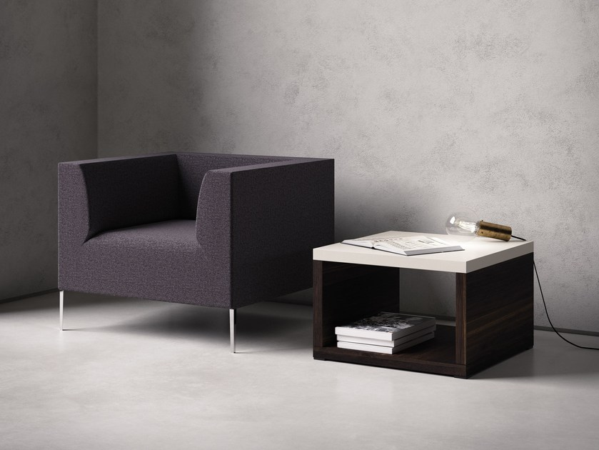 Low bistro side table with storage space MORE | Coffee table by Sinetica