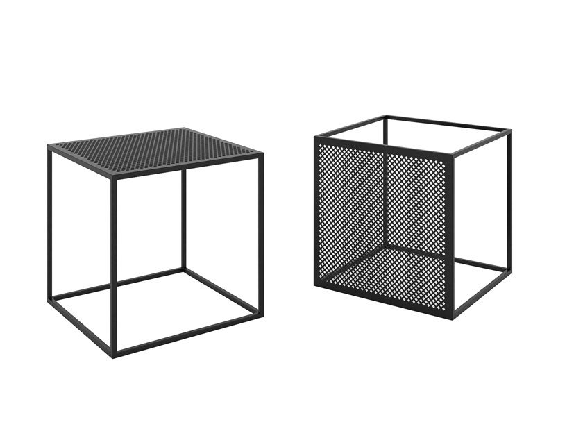 Square powder coated steel coffee table MOTIVO | Coffee table by take me HOME
