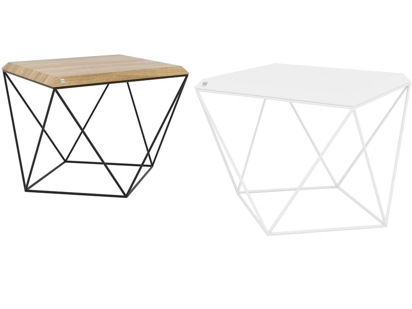 Square steel and wood coffee table TULIP   Square coffee table by take me HOME