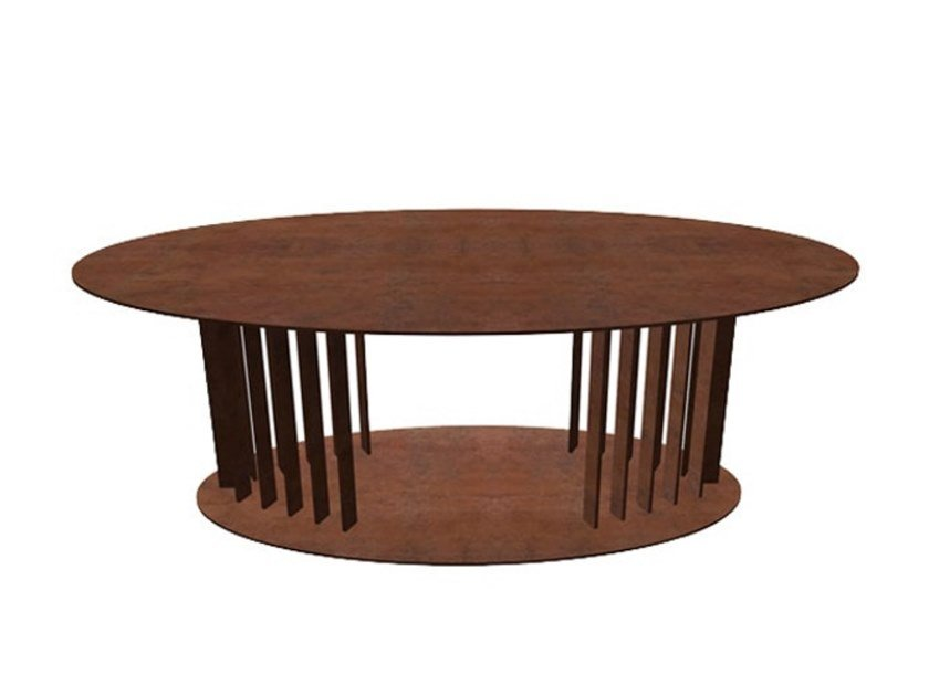 Oval Corten™ coffee table OVOV | Coffee table by TrackDesign