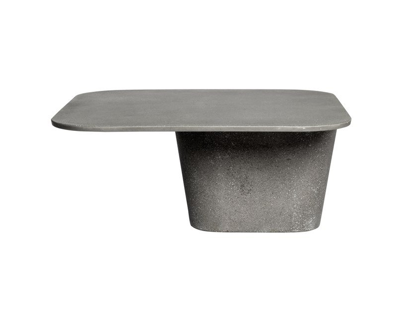 Square lightweight cement coffee table TAO | Coffee table by TRIBÙ
