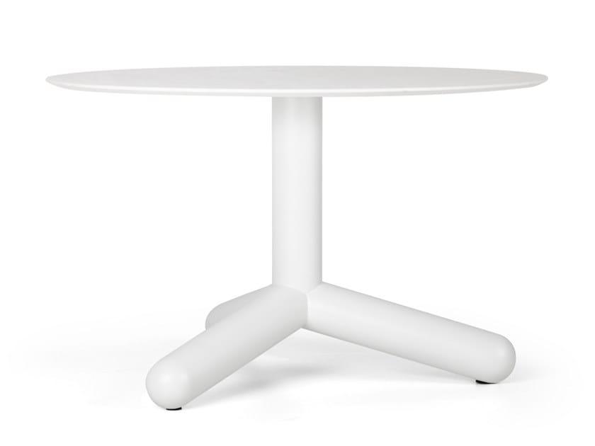 Tavolino da caffè rotondo in HPL EIGHTY | Tavolino by True Design
