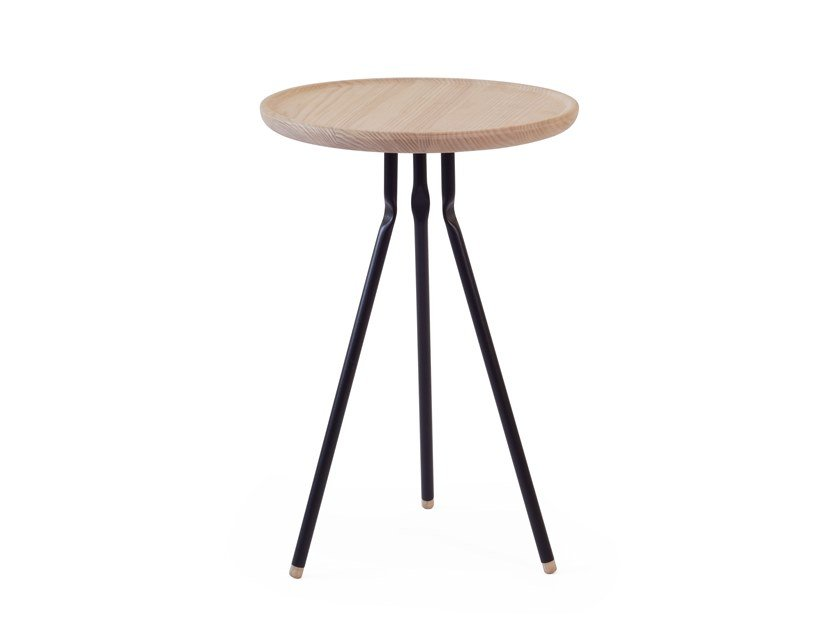 Round ash coffee table BEND SIDE TABLE | Ash coffee table by UBIKUBI