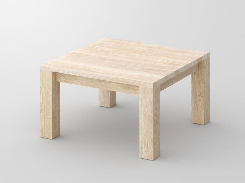 Tavolino basso quadrato in legno massello CUBUS | Tavolino by Vitamin Design