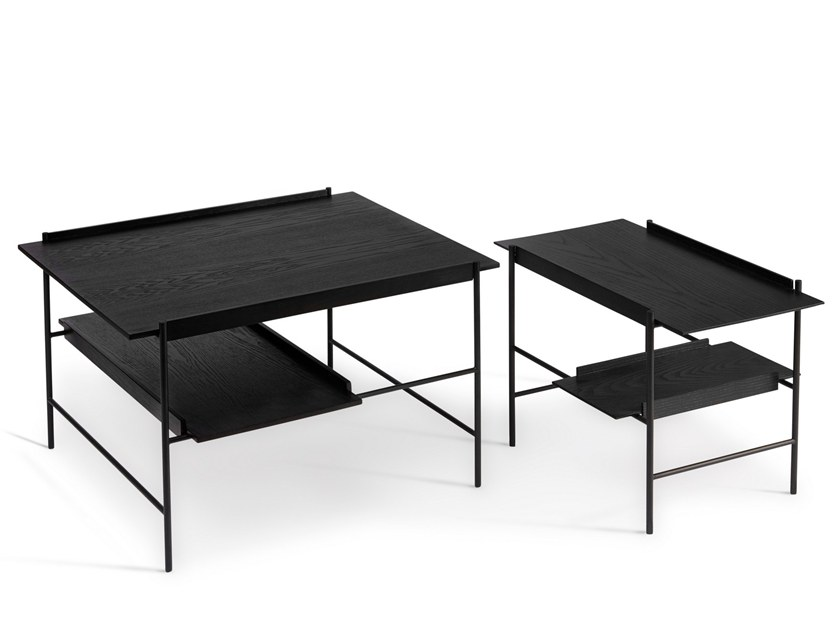 Low powder coated steel coffee table with tray KANSO | Coffee table with tray by PLEASE WAIT to be SEATED