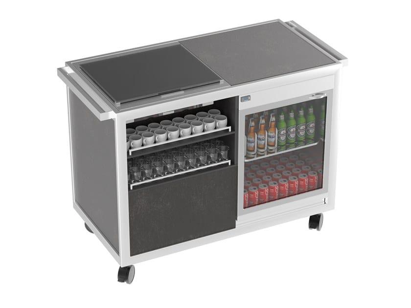 Beverage Serving trolley with cooling top Coffee&Tea break cart by La tavola